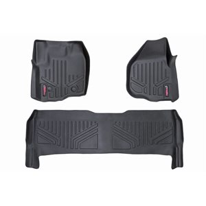 HD FLOOR MATS FR / RR 12-16 FORD SUPER DUTY CREW CAB RAISED PEDAL