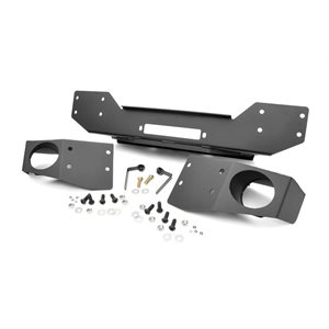 JEEP JK 07-17 HYBRID STUBBY WINCH BUMPER W / FOG MOUNTS