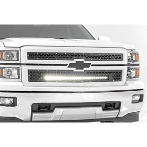 CHEVY MESH GRILLE W / 30IN BLACK SERIES LED 14-15 SILVERADO 1500
