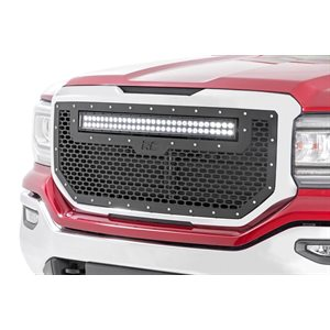 "GMC MESH GRILLE W / 30"" DUAL ROW BLACK SERIES 16-18 SIERRA 1500"